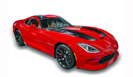 Sports Car Isolated - Dodge Viper. Image of the right front of a Dodge Viper taken at the 2015 North American International Auto Show in Detroit, Michigan Royalty Free Stock Photography