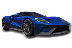 Sports Car Isolated. Sports car, Ford GT, isolated, right front profile Royalty Free Stock Photography