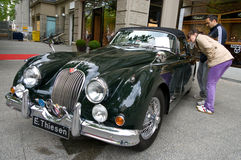 Sports Car Jaguar XK 140 DHC Stock Image