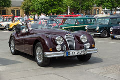 A sports car Jaguar XK140 Roadster Royalty Free Stock Images