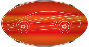 Sports car label, auto badge design, icon Stock Images