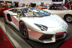 Sports car Lamborghini Aventador LP 700-4, 2014. Stock Photo