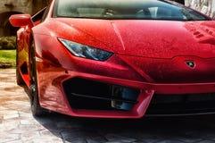 Sports car Lamborghini Huracan LP 610-4 2014 Royalty Free Stock Photo