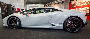 Sports car Lamborghini Huracan LP 610-4, 2014. Stock Photos
