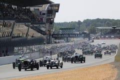 Sports Car,Le Mans Classic 24h Race. Le Mans Classic 24h Race: Circuit 24h(FRANCE), July 11th, 2010. START stock images