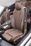 Sports car leather seats Stock Photos