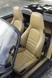 Sports car leather seats Royalty Free Stock Photography