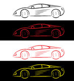 Sports car - logo royalty free illustration