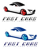 Sports car logo design concept Royalty Free Stock Images