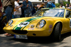The sports car Lotus Elite Type 14. BERLIN - MAY 28: The sports car Lotus Elite Type 14, the exhibition 125 car history - 125 years of history Kurfurstendamm Stock Images