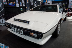 Sports car Lotus Esprit S1, 1977. STUTTGART, GERMANY - MARCH 03, 2017: Sports car Lotus Esprit S1, 1977. From the film about James Bond `The Spy Who Loved Me` Royalty Free Stock Images