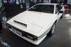 Sports car Lotus Esprit S1, 1977. STUTTGART, GERMANY - MARCH 03, 2017: Sports car Lotus Esprit S1, 1977. From the film about James Bond `The Spy Who Loved Me` Royalty Free Stock Image