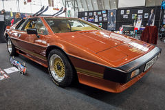 Sports car Lotus Turbo Esprit, 1981. STUTTGART, GERMANY - MARCH 03, 2017: Sports car Lotus Turbo Esprit, 1981. From the film about James Bond `For Your Eyes Royalty Free Stock Photos