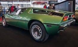 Sports car Maserati Bora 4,9, 1973. Stock Photos