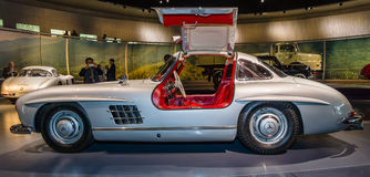 Sports car Mercedes-Benz 300 SL Gullwing coupe, 1955. Royalty Free Stock Images