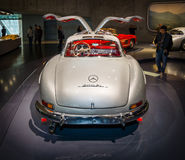 Sports car Mercedes-Benz 300 SL Gullwing coupe, 1955. Royalty Free Stock Image
