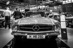 Sports car Mercedes-Benz 280 SL (W113), 1968. Royalty Free Stock Images