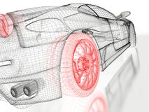 Sports car model stock illustration