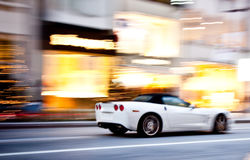 A sports car in motion blur Royalty Free Stock Images