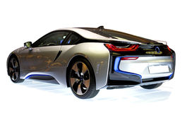 Sports car. New bmw i8, isolated stock photography