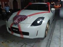 Sports car nissan 350Z. Bridal car Stock Photography