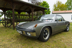 Sports car Porsche 914/6 (Targa). Royalty Free Stock Photo