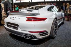 Sports car Porsche 911 Turbo S, 2016. Stock Photo
