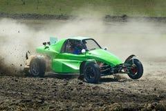 Sports car racing Royalty Free Stock Image