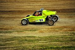 Sports car racing autocross Stock Photos