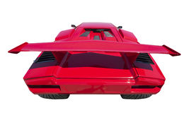 Sports car rear, isolated Royalty Free Stock Images