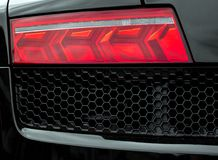Sports car rear light. Royalty Free Stock Photo
