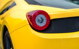 Sports car rear light. Stock Image