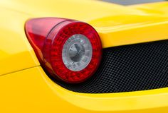 Sports car rear light. Stock Image