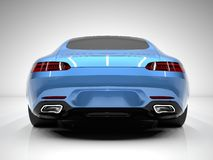 Sports car rear view. The image of a sports blue Stock Image
