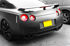 Sports car rear view. Rear view of a modern sports car Stock Images