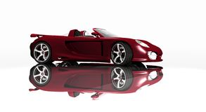 Sports car red Royalty Free Stock Images