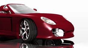 Sports car red Royalty Free Stock Image