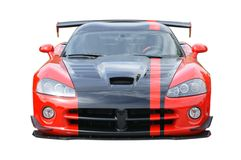 Sports Car Red American Isolated stock photo