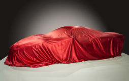 Sports car with red cloth Stock Photos