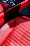 Sports Car Red Seat Royalty Free Stock Images
