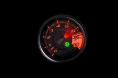 Sports car rev counter Stock Photography