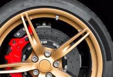 Sports car rim. Royalty Free Stock Image