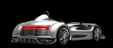 Sports car road-star isolated Royalty Free Stock Photography