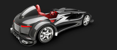 Sports car road-star isolated Royalty Free Stock Images