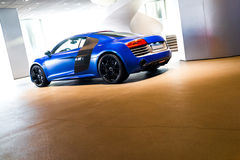 Sports car for sale. Sports car in showroom for sale stock photos