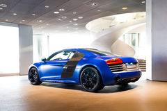 Sports car for sale. Sports car in showroom for sale stock photography