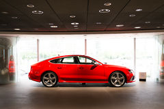 Sports car for sale. Sports car in showroom for sale royalty free stock images