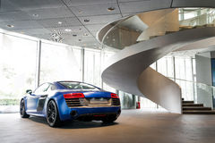 Sports car for sale. Sports car in showroom for sale stock images