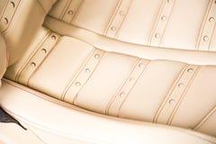 Sports car seat detail Stock Photos