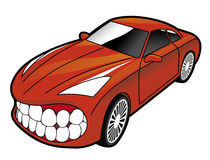 Sports car showing teeth. Vector Sports car showing teeth Vector Illustration